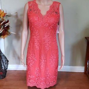 NWT Modcloth Soieblu salmon orange lace dress